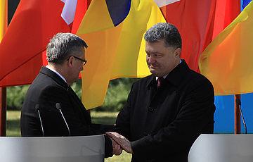 Порошенко і Коморовський вшанували пам'ять жертв тоталітаризму в заповіднику