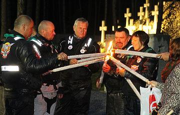 Participants of the XVII International Katyn Motocross attended Bykivnia