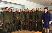 Военнослужащие в Вышгороде - слушатели лектория Заповедника
