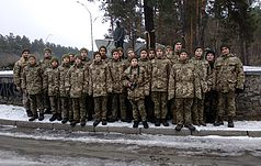 Будущие украинские офицеры почтили память жертв сталинских репрессий в Быковне