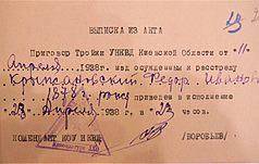 Сторінками Биківнянського мартиролога: Федір Крижанівський